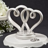 Interlocking Hearts Wedding Cake Topper